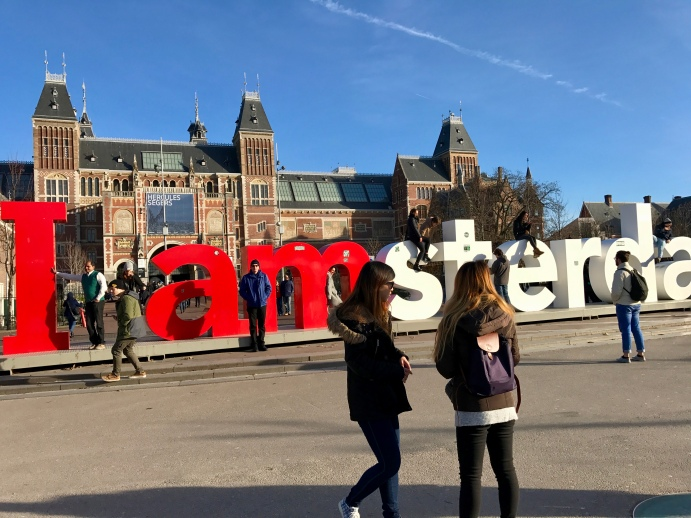 Iconic sign by the Rijksmuseum