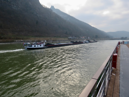 """Barge """"Gerja"""" carrying coal"""