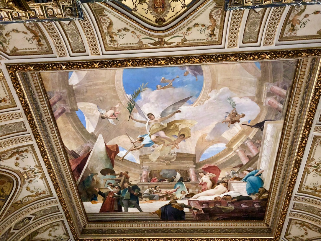 Staircase ceiling mural
