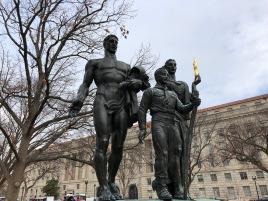 Really strange Boy Scout statue