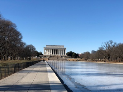 Lincoln Memorial & (frozen) Reflecting Pool
